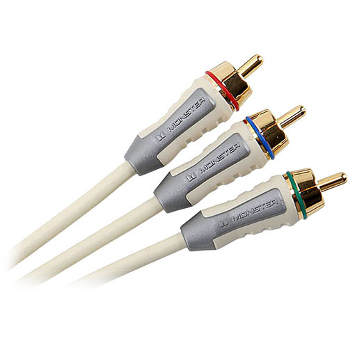 Monster Cable FlatScreen Series 3 RCA Male to 3 RCA Male Component Video Cable - 6.5'