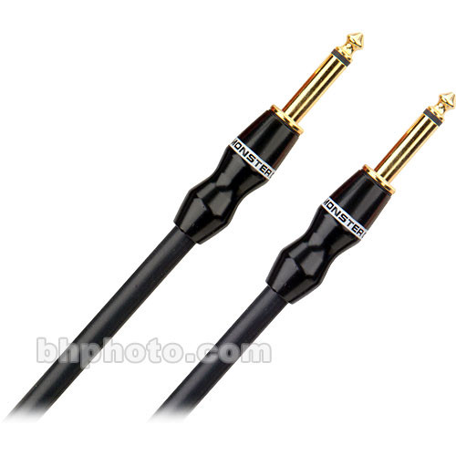 "Monster Cable Performer 500 Series 1/4"" TS Male Phone to 1/4"" TS Male Phone Speaker Cable - 3'"