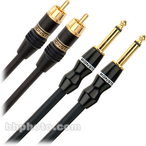 "Monster Cable SL-CR-2P 2 RCA Male to 2 1/4"" Male Dual Cable - 6.5'"