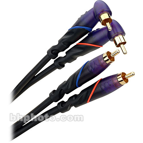 Monster Cable Prolink DJ Series RCA Angled Male Pair to RCA Male Pair Cable - 13'