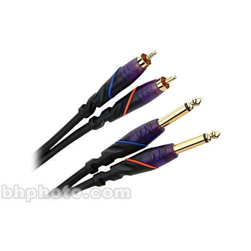 "Monster Cable Prolink DJ 1/4"" Male Pair to RCA Male Pair Cable - 6.5'"