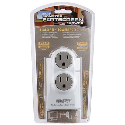 Monster Power FlatScreen PowerProtect 200 Surge Protector