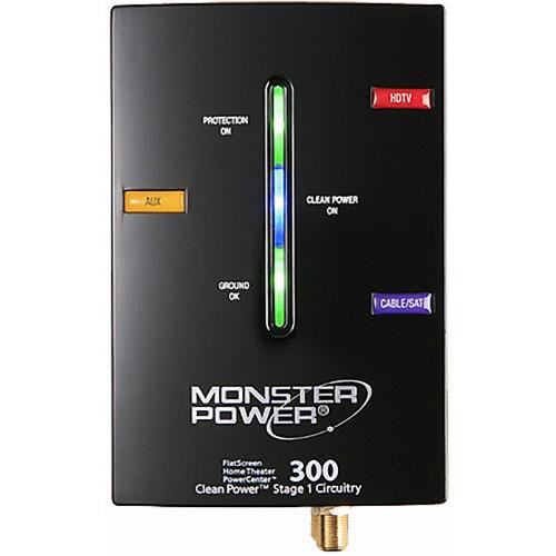 Monster HTS 300 Flatscreen Surge Protector - 3 Outlets