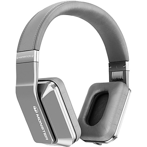 Monster Inspiration Active Noise Cancelling Over-Ear Headphones (Silver)