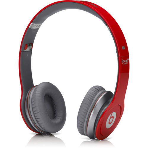 Monster Power Beats by Dr. Dre Solo HD On-Ear Headphones with ControlTalk (Red)