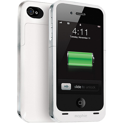 mophie juice pack air for iPhone 4/4s (White)