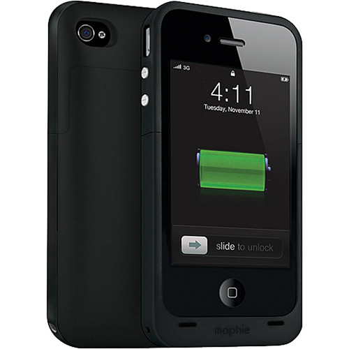 mophie juice pack plus Battery Pack for iPhone 4 & 4S (Black)