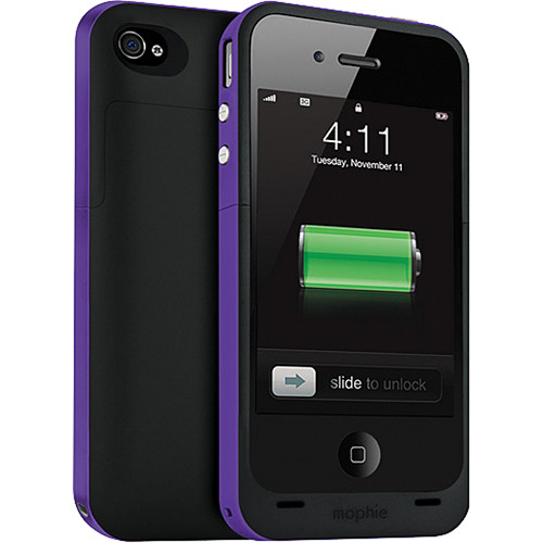 mophie juice pack plus Battery Extender for iPhone 4 (Purple)
