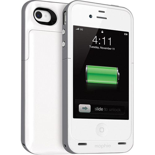 mophie juice pack plus Battery Pack for iPhone 4 & 4S (White)