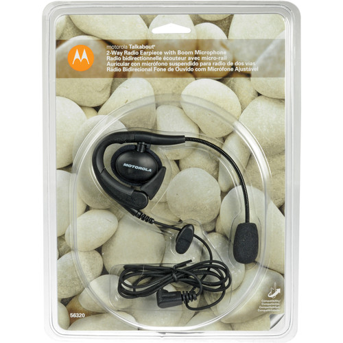 Motorola Earpiece with Boom Microphone - for Spirit GT, Talkabout T-5000 and T-6000 Series Radios