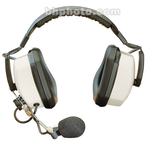 Eartec Double Earmuff Headset with Noise Canceling Mic for Hard Hat Wearers