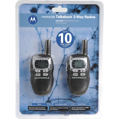 Motorola MB140R Talkabout 2-Way Communication Radios (Pair, Brown)