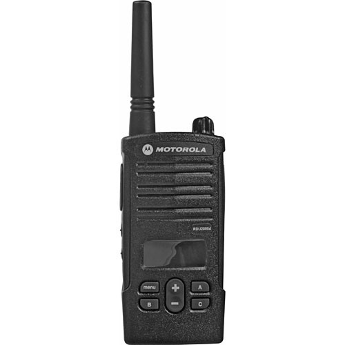 Motorola Model RDU2080D  with Display, RDX Business Series Two-Way UHF Radio (Black)