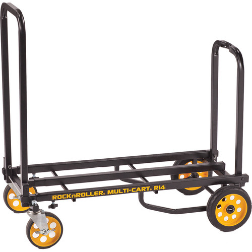 MultiCart RockNRoller R14RT 8-In-1 Convertible Hand Truck with 700 lb. Capacity (Black/Yellow)