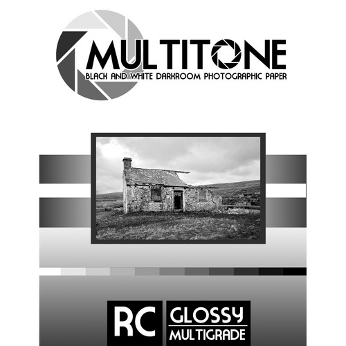 "MultiTone Black & White RC Paper (Glossy, 8 x 10"", 100 Sheets)"