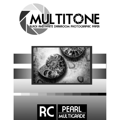 "MultiTone Black & White RC Paper (Pearl, 11 x 14"", 50 Sheets)"
