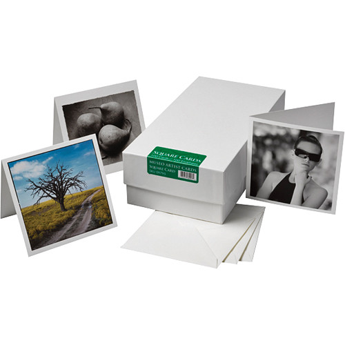 "Museo Square Inkjet Artist Cards (5.25 x 5.25"", 100 Cards & Envelopes)"
