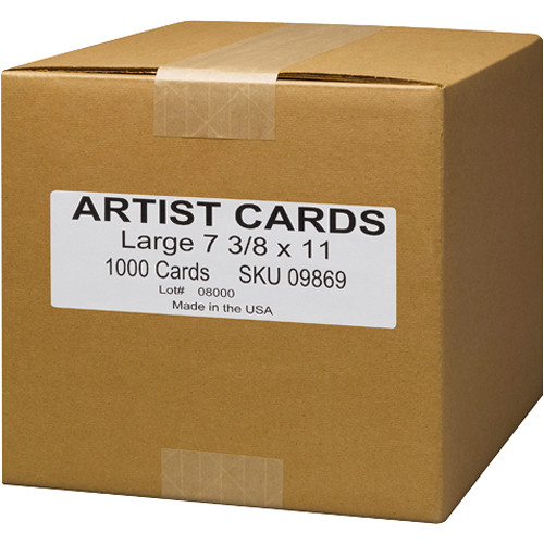 """Museo Large Inkjet Artist Cards (5.5 x 7.26"""", 1000 Cards)"""