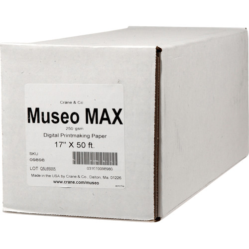 "Museo MAX Archival Fine Art Paper for Digital Printing (17"" x 50', One Roll)"