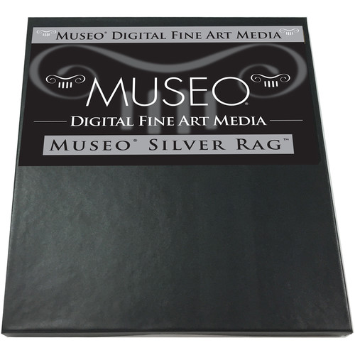 """Museo Silver Rag Paper - 8.5x11"""" - 25 Sheets"""
