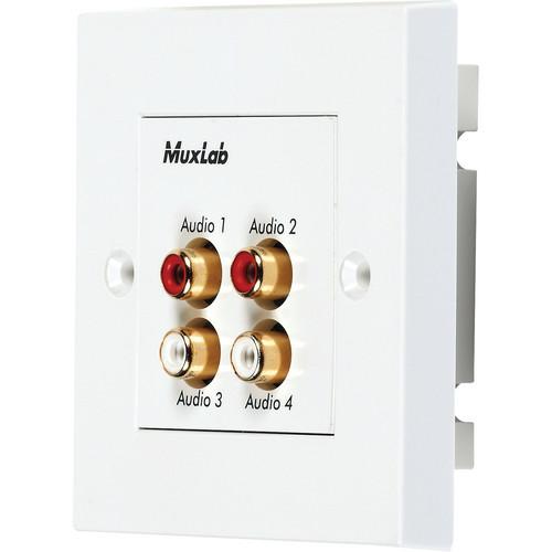 MuxLab Quad Audio Wall Plate Balun (UK)