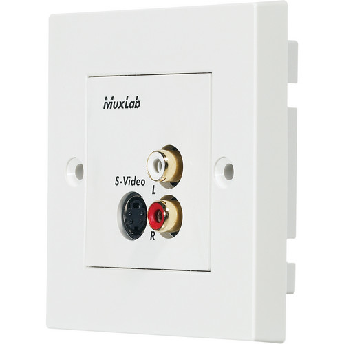 MuxLab S-Video/Hi-Fi Wall Balun (UK)