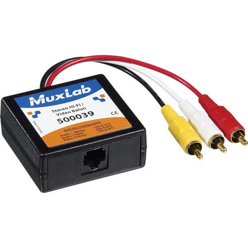 MuxLab Stereo Hi-Fi / Video Balun 2-Pack Kit