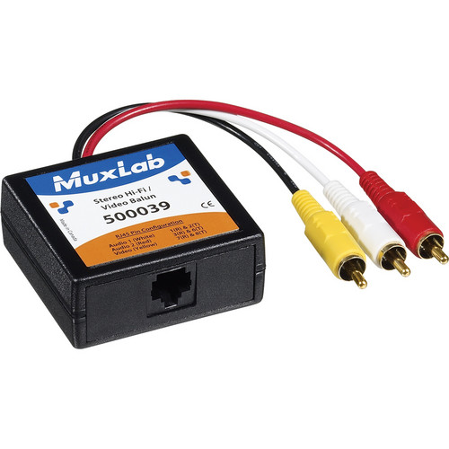 MuxLab Stereo Hi-Fi/Video Balun