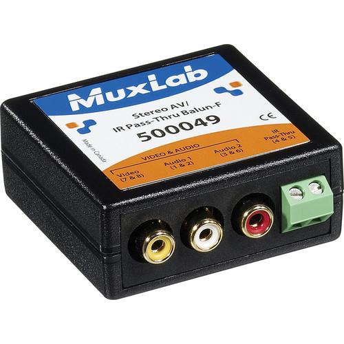MuxLab 500049 Stereo AV/IR Pass-Thru Balun (Female)