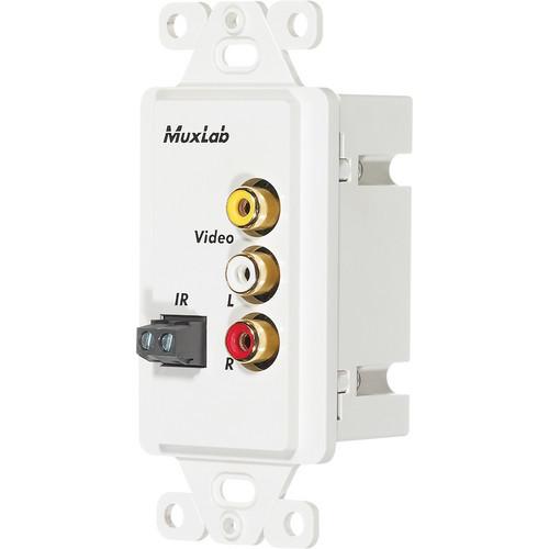 MuxLab 500049-WP-US Stereo AV/IR Pass-Thru Wall Balun (US)
