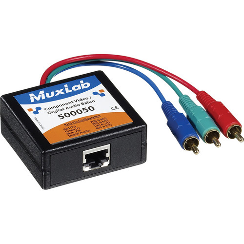 MuxLab Component Video/Digital Audio Balun (Male)