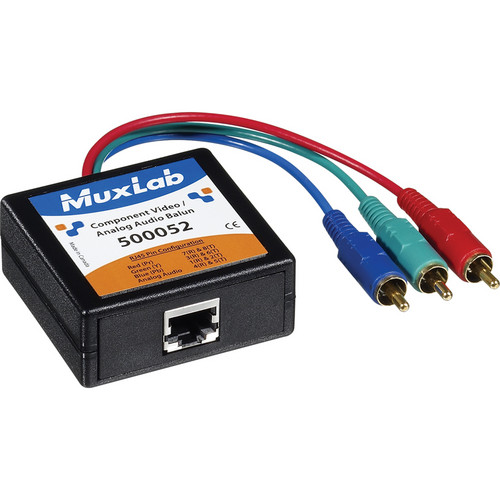 MuxLab Component Video/Analog Audio Balun (Male)