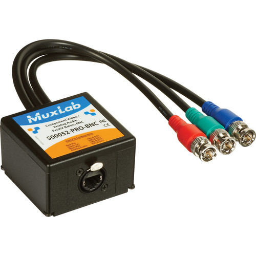 MuxLab Component Video/Analog Audio ProAV Balun with BNC Connectors
