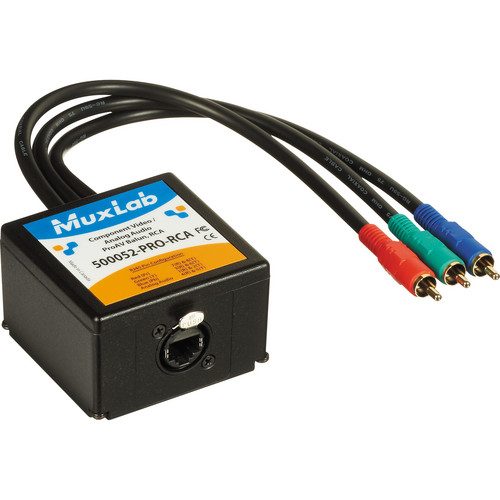 MuxLab Component Video/Analog Audio ProAV Balun with RCA Connectors