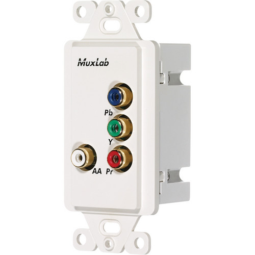 MuxLab Component Video/Analog Audio Wall Plate Balun (US)