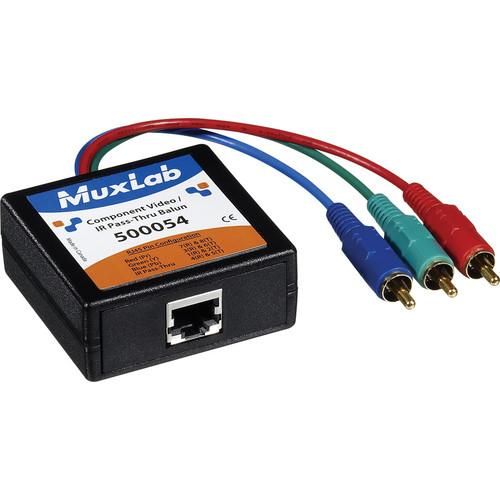 MuxLab 500054-2PK Component VideoIR Pass-Thru Balun, 2-Pack