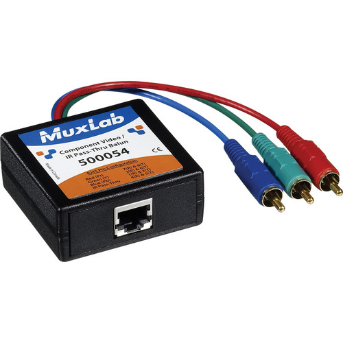 MuxLab 500054 Component Video/IR Pass-Thru Balun (Male)