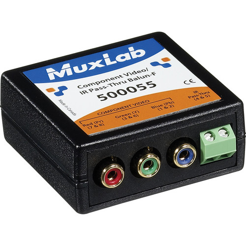 MuxLab 500055 Component Video/IR Pass-Thru Balun (Female)