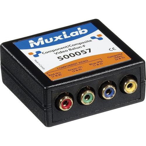 MuxLab 500057 Component-Composite Video Balun (Female)