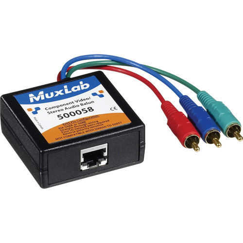 MuxLab 500058 Component Video/Stereo Audio Balun