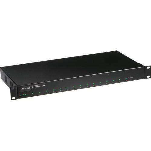 MuxLab 500121 LongReach 16 Active CCTV Receiver Hub (UTP/UTP)