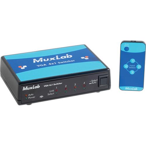 MuxLab 500161 VGA 4x1 Switcher (220-240V)