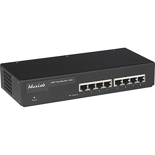 MuxLab 500300 CATV Distribution Hub (8 Ports)