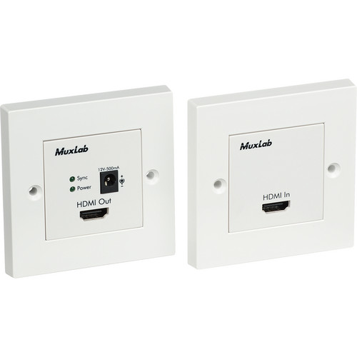 MuxLab 500401-WP-UK HDMI Econo Plus Wall Plate Extender Kit (UK)