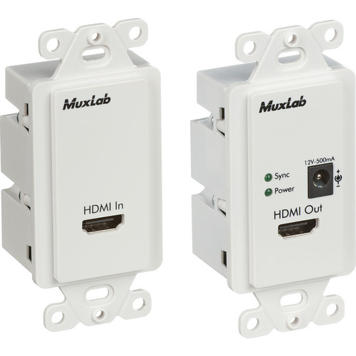 MuxLab 500401-WP-US HDMI Econo Plus Wall Plate Extender Kit (US)