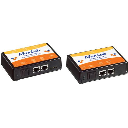 MuxLab 500410 HDMI 3x1 Switcher Kit (110V)