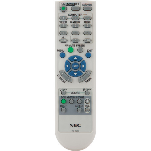 NEC RMT-PJ32 Replacement Remote Control for NP-U300X/U310W Projectors