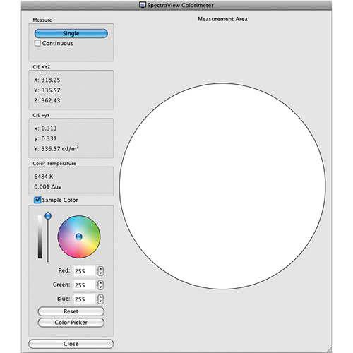 NEC SpectraView II Display Calibration Software