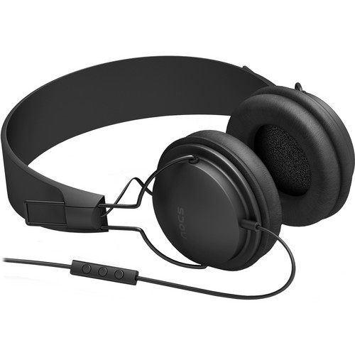 NOCS NS300 Street On-Ear Stereo Headphones with Mic and Remote (Black)