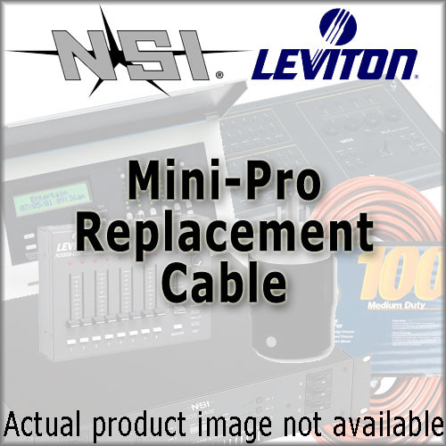 NSI / Leviton Replacement Power Cable for Mini Pro Fixture - 9' (2.7m)